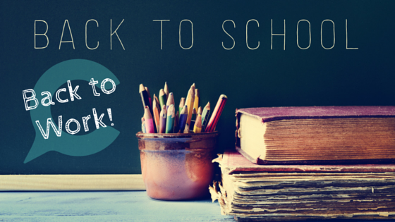 Back to school = back to work