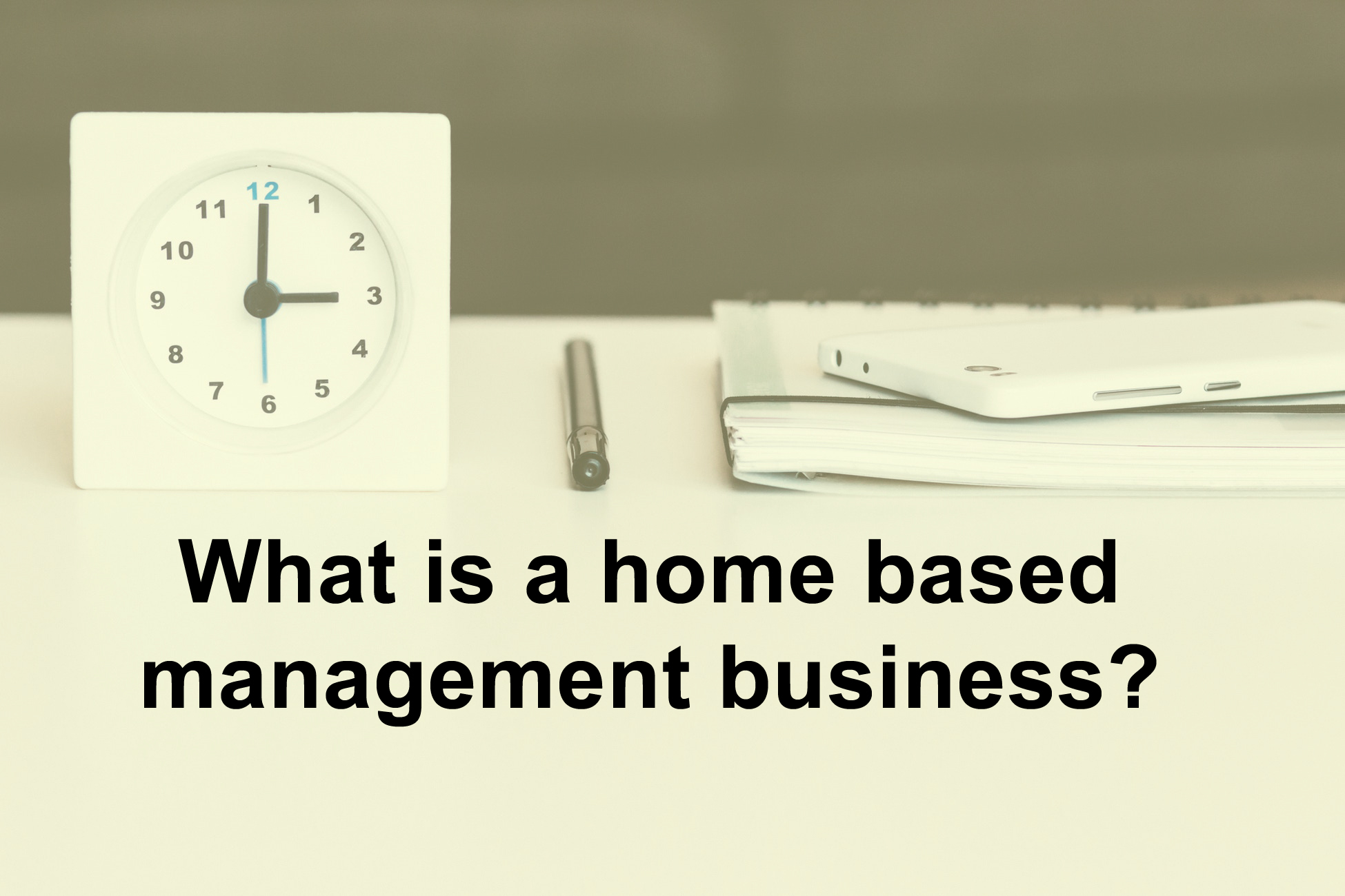 What is a home based management business?